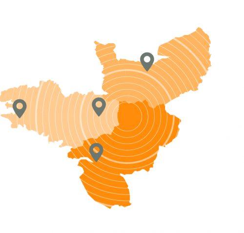 Notre plan de travail étendu à partir des 3 régions du Grand Ouest